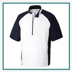 Cutter & Buck Men's WeatherTec S/S Summit Half Zip Mock with Custom Embroidery, Cutter & Buck Custom Mocks, Cutter & Buck Corporate Logo Gear