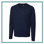 Cutter & Buck Men's Douglas V-neck Sweater with Custom Embroidery, Cutter & Buck Custom Sweaters, Cutter & Buck Corporate Logo Gear