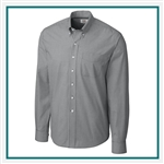 Cutter & Buck Men's L/S Epic Easy Care Gingham Shirt Custom Embroidered