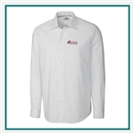 Cutter & Buck Men's L/S Epic Easy Care Mini Herringbone Shirt Embroidered