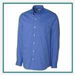 Cutter & Buck Men's Tailored Fit Nailshead Shirt Custom Embroidered