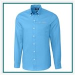 Cutter & Buck Men's Tailored Fit Fine Twill Shirt Custom Embroidered