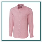 Cutter & Buck M Epic Easy Care Tattersall Shirt Custom Embroidered