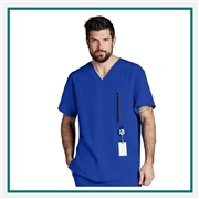 Barco V Neck Zip Pocket Scrub Top Custom Branded