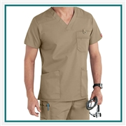Dickies Men's EDS Signature V-Neck Scrub Top Custom Embroidery
