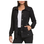 Dickies Women's Snap Front Scrub Jacket Custom Embroidered