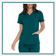 Dickies Women's Balance V-Neck Scrub Top Custom Embroidered