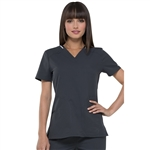 Elle Women's V-Neck Solid Scrub Top Custom Embroidery