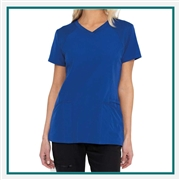 HeartSoul Women's Ribbed V-Neck Scrub Top Custom Embroidered