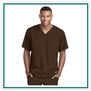 Skechers Structure V Neck Chest Pocket Scrub Top Custom Branded