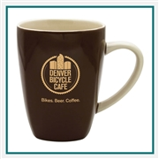 17 oz. Quadro Ceramic Mug, Custom Logo Quadro Coffee Mug, Glass America Item Number 13700, Custom printed mugs