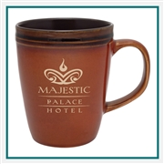 14 oz. Antigua Ceramic Mug, Custom Logo SLAT coffee Mug, Glass America Item Number 14200, Custom printed mugs