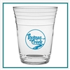 16 oz. Glass Fill Up Cup, with Custom Logo, Custom Logo Glasses, Glass America Item Number 2803, Custom Printed Glasses
