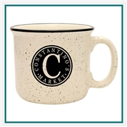 14 Oz. Camper Ceramic Mug, Custom Logo C-handle coffee Mug, Glass America Item Number 15700, Custom printed mugs