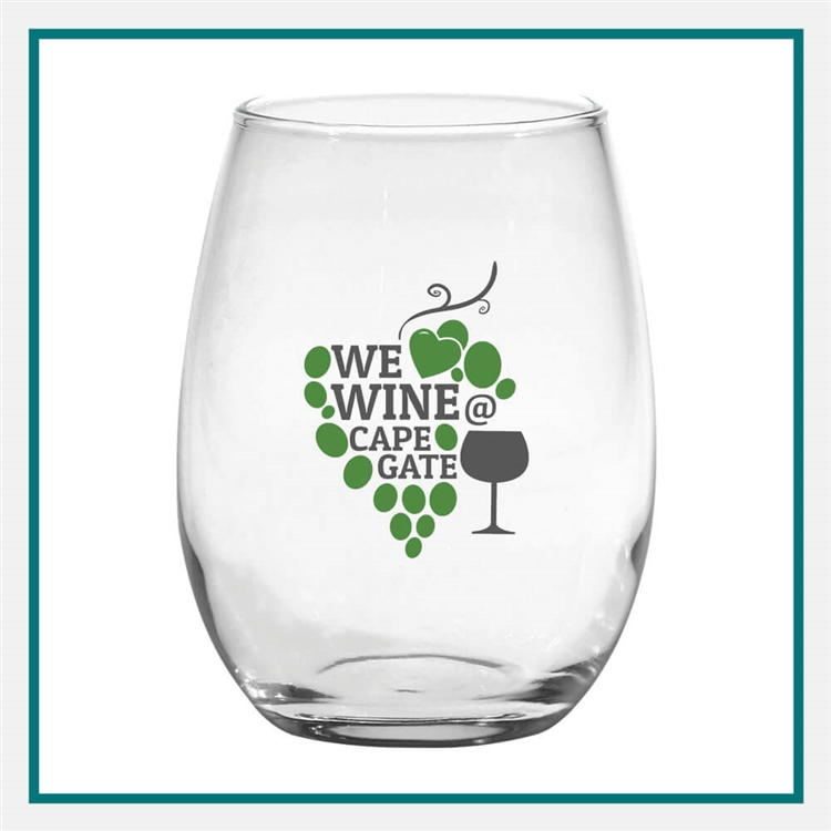 15 oz. Stemless White Wine Custom Logo