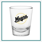 1.75 oz. Tapered Shot Glass, with Custom Logo, Custom Logo Shot Glasses, Glass America Item Number 209, Custom Printed Glasses