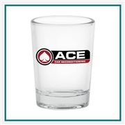 4 oz. Juicer/Large Shot Glass, with Custom Logo, Custom Logo Shot Glasses, Glass America Item Number 212, Custom Printed Glasses