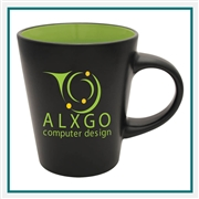 12 oz. Noir Ceramic Mug, Custom Logo Noir coffee Mug, Glass America Item Number 21300, Custom printed mugs