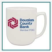 17 oz. Noble Ceramic Mug, Custom Logo coffee Mug, Glass America Item Number 27700, Custom Printed Mugs