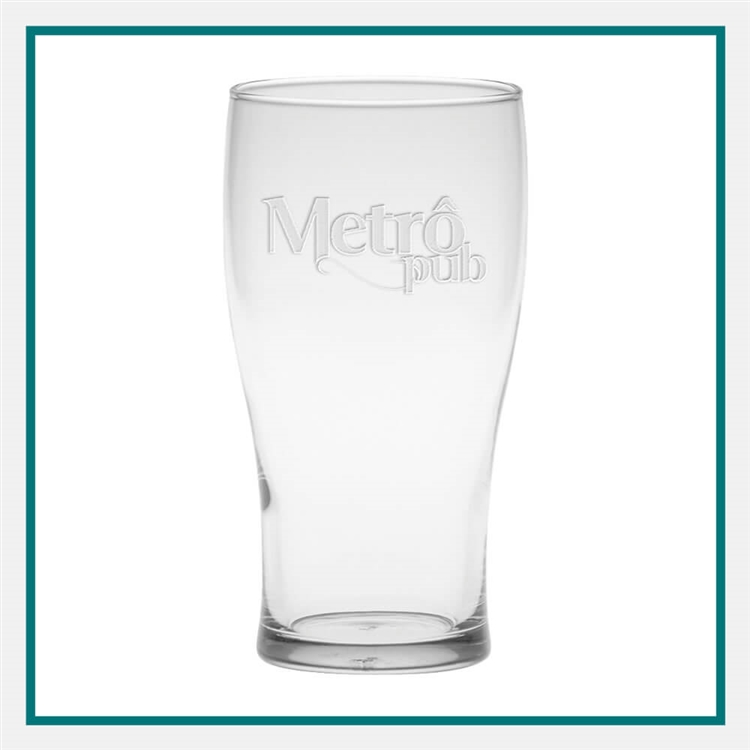 16 oz. Pub Glass Custom Logo