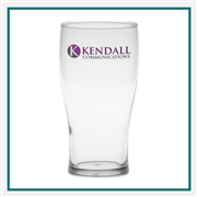 16 oz. Pub Glass, with Custom Logo, Custom Logo Pub Glasses, Glass America Item Number 2803, Custom Printed Glasses