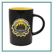 14 oz. Midnight Café Ceramic Mug, Custom Logo Midnight Café coffee Mug, Glass America Item Number 33300, Custom printed mugs