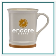15 oz. Allure Ceramic Mug, Custom Logo Allure coffee Mug, Glass America Item Number 3350, Custom printed mugs