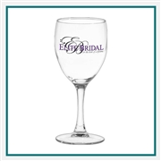 8.5 oz. Nuance Wine, with Custom Logo, Custom Logo Wine Glasses, Glass America Item Number 347, Custom Printed Glasses