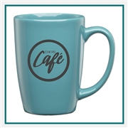 16 Oz. Taza Ceramic Mug, Custom Logo Taza coffee Mug, Glass America Item Number 34800, Custom printed mugs