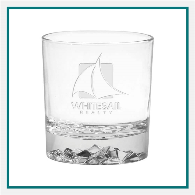11.5 oz. Glacier OTR Glass, with Custom Logo, Custom Logo Glasses, Glass America Item Number 52E, Custom Engraved Glasses