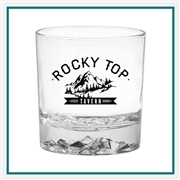 11.5 oz. Glacier OTR Glass, with Custom Logo, Custom Logo Glasses, Glass America Item Number 52, Custom Printed Glasses