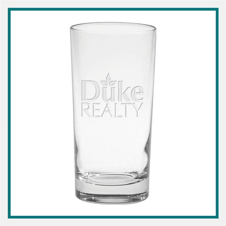 12 oz. Deluxe Beverage Glass, with Custom Logo, Custom Logo Glasses, Glass America Item Number 53E, Custom Engraved Glasses