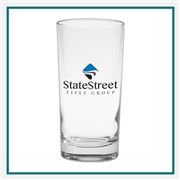 12 oz. Deluxe Beverage Glass, with Custom Logo, Custom Logo Glasses, Glass America Item Number 53, Custom Printed Glasses