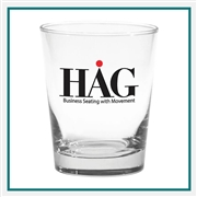15 oz. Deluxe DOF Glass, with Custom Logo, Custom Logo Glasses, Glass America Item Number 57, Custom Printed Glasses