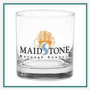 11 oz. Executive Old Fashion Glass, with Custom Logo, Custom Logo Executive Glasses, Glass America Item Number 61, Custom Printed Glasses