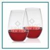 Riedel 21.75 oz Shiraz Stemless Set Engraved