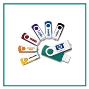 1GB Swivel Promotional Flash Drive, Promotional Swivel Flash Drive, Custom Logo Flash Drives, Printed USB Flash Drives Fast Turnaround