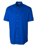 Clique M S/S Avesta Stain Resistant Twill Shirt MQW00004 Custom Embroidered