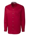 Clique Men's L/S Bergen Stain Resistant Twill Shirt MQW00008 Custom Embroidered