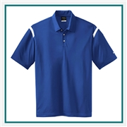 Nike Golf Men's Dri-Fit Shoulder Stripe Polo with Custom Embroidery, Nike Custom Polos, Nike Custom Logo Gear