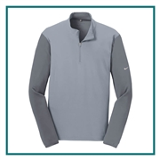 Nike Men's Dri-FIT Fabric Mix 1/2-Zip Cover Up with Custom Embroidery, Nike Custom Pullovers, Nike Corporate Sales