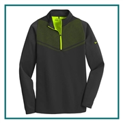 Nike Men's Therma-FIT Hypervis 1/2-Zip Cover Up with Custom Embroidery, Nike Promotional Embroidered Pullovers, Nike Corporate Sales