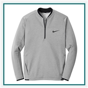 Nike Therma-FIT Textured 1/2-Zip Company Logo