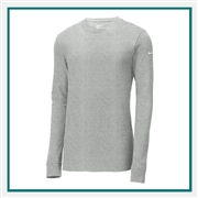 Nike Men's Core Cotton Long Sleeve Tee Custom Embroidery