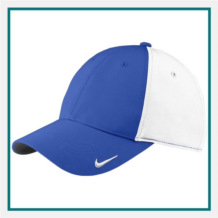 38ceb1d24b221 Nike Golf Swoosh Legacy 91 Cap Custom Embroidered