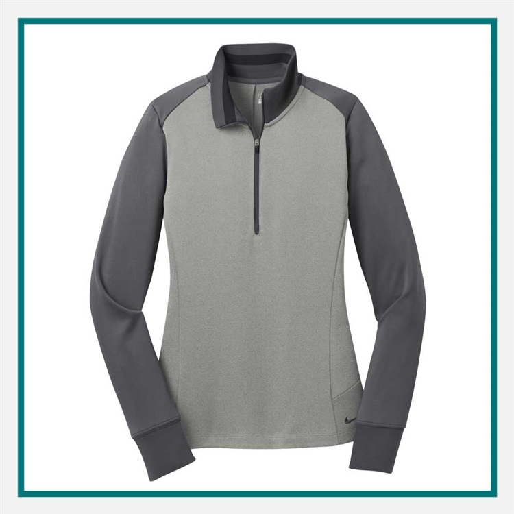 Nike Ladies Dri-FIT 1 2-Zip Cover-Up Pullover Custom Embroidered ... 942c4f7b5