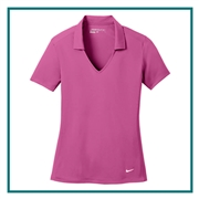 Nike Golf Ladies Dri-FIT Vertical Mesh Polo with Custom Embroidery, Nike Custom Polos, Nike Custom Logo Gear