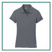 Nike Golf Ladies Dri-FIT Solid Icon Pique Polo with Custom Embroidery, Nike Custom Polos, Nike Custom Logo Gear