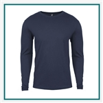 Next Level Men's Premium Fitted Long-Sleeve Crew N3601 with Custom Embroidery, Custom Embroidered Next Level T-shirts, Next Level N3601 T-shirt Best Price