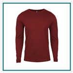 Next Level Men's Premium Fitted Long-Sleeve Crew N3601 with Silkscreen Logo, Custom Logo Next Level t-shirts, Next Level N3601 t-shirt Best Price